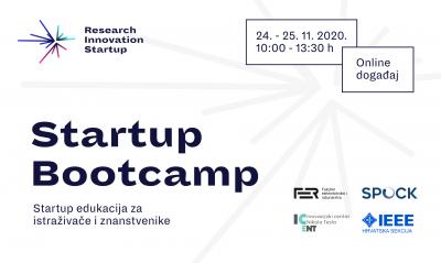 Održavanje Startup Bootcamp u organizaciji Hrvatske sekcije IEEE, Inovacijskog centra Nikola Tesla, FER-a i SPOCK