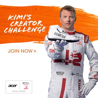"""Natječaj """"Kimi's Creator Challenge"""" u partnerstvu tt. ACER i Alfa Romeo racing Orlen tima formule 1"""