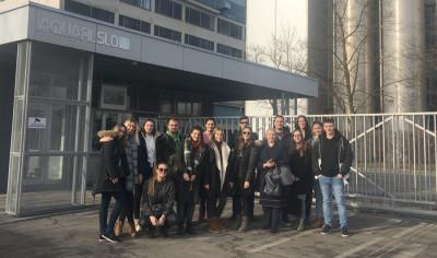 Odlazak studenata na praktičnu nastavu u tvornicu AquafilSLO, Ljubljana (Slovenija)