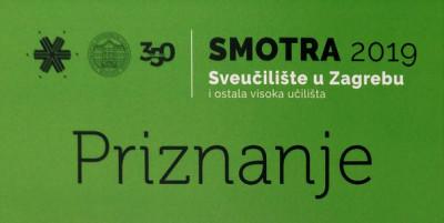 TTF-u dodijeljeno priznanje za najbolje uređen izloženi prostor na Smotri Sveučilišta u Zagrebu