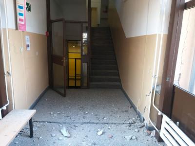 Oštećenje zgrade Sveučilišta u Zagrebu Tekstilno-tehnološkog fakulteta